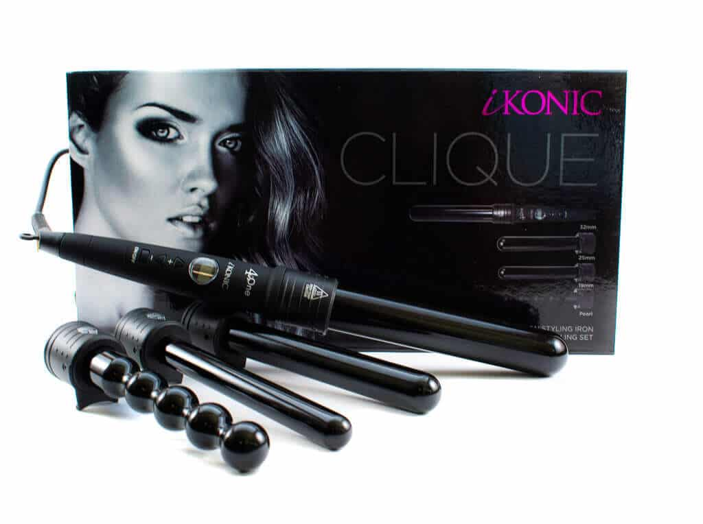 Clique 100 Tourmaline Ceramic Curling Wand Set Ikonic