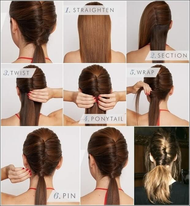 how to Twist Ponytail