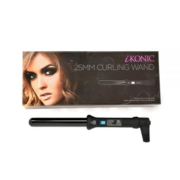 25mm curling wands black with a box